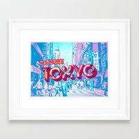 tokyo Framed Art Prints featuring Tokyo by nicole martinez