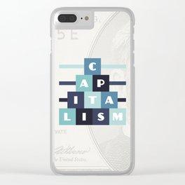 Capitalism Clear iPhone Case