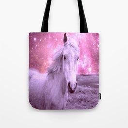 Pink Horse Celestial Dreams Tote Bag