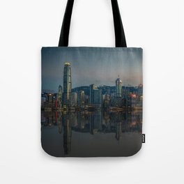 Hong Kong Skyline at Dusk Tote Bag