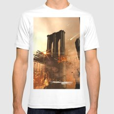 The apocalypse Mens Fitted Tee MEDIUM White