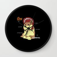 doge Wall Clocks featuring Diamond Doge by merimeaux