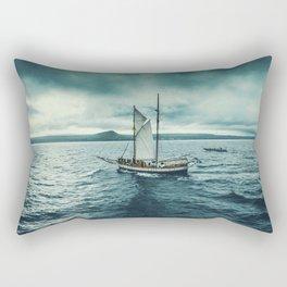 Whale spotting Iceland Rectangular Pillow
