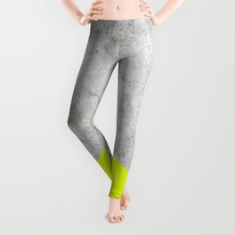 Geometric Concrete Arrow Design - Neon Yellow #521 Leggings