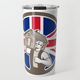 British House Removal Union Jack Flag Icon Travel Mug