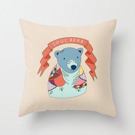 Soul Bear Throw Pillow