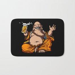 Buddha Beer Drinking Yoga Meditation Funny Party Bath Mat