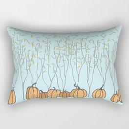 Pumpkins, Trees and Gentle Fall Breeze Rectangular Pillow