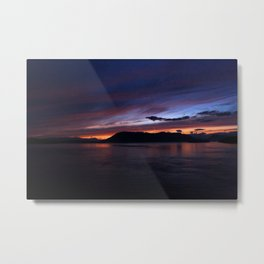 Sunset in British Columbia Metal Print