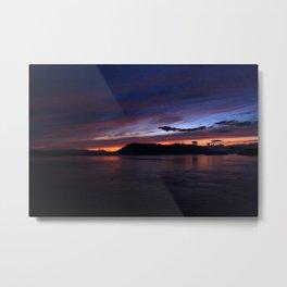 Sunset in British Columbia Metal Print