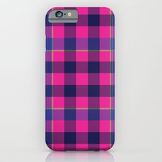 Pink and Navy Plaid iPhone 6s Slim Case