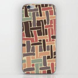 Vintage weave pattern iPhone Skin