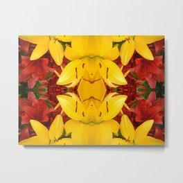 """A Gathering of Lilies"" Remix - 4 (4-1) [D4469~57] Metal Print"