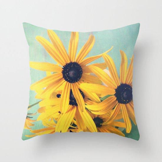 Sweet Yellow Flowers Throw Pillow