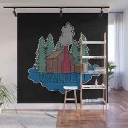 Walden - Henry David Thoreau (Coloured textured version) #society6 #decor #buyart Wall Mural