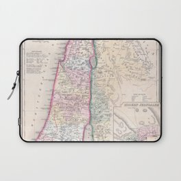 Old 1864 Historic State of Palestine Map Laptop Sleeve