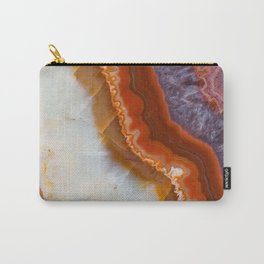 Rusty Amethyst Agate Carry-All Pouch