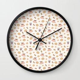 Swedish Fika pattern Wall Clock