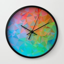 Low Poly Color Burst Wall Clock