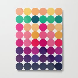 Geometric pattern of circles Metal Print