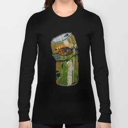 'Premium Slob' Can Mixed Media Illustration Long Sleeve T-shirt