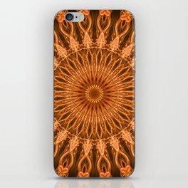 Pretty copper mandala iPhone Skin