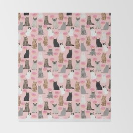Cats with donuts cute cat breeds cat portraits pet portrait cat lady hipster gifts sprinkle donut Throw Blanket