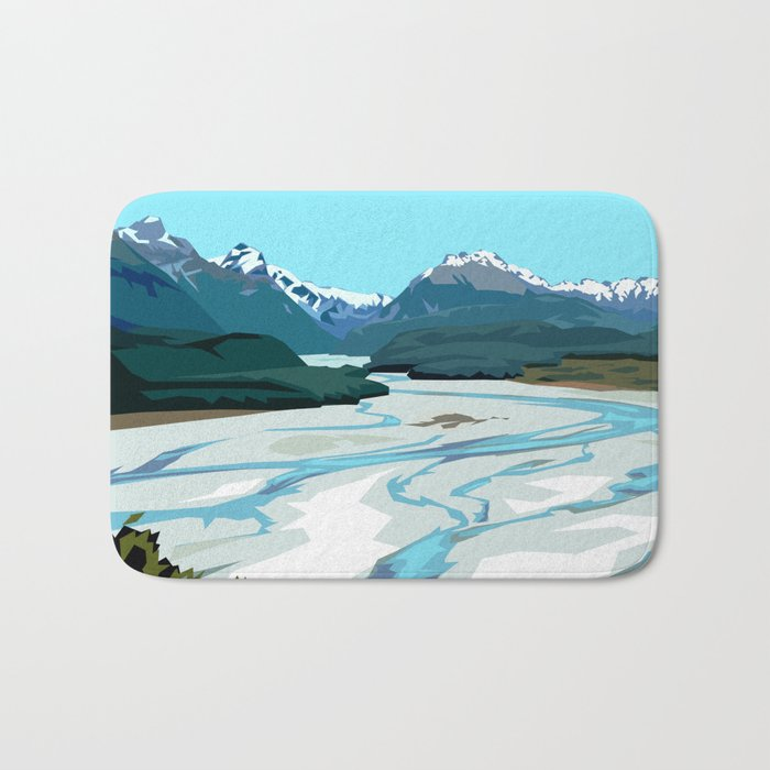 Dart River Valley, Glenorchy Bath Mat