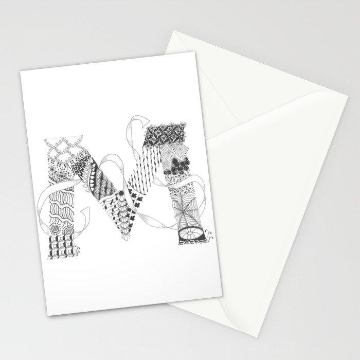 "Zenletter ""M"" Stationery Cards"