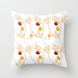 Bugs Vines Throw Pillow