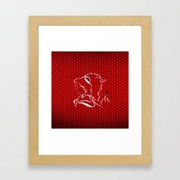 beauty and the beast 1 Framed Art Print