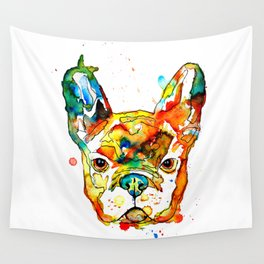 Colorful french bulldog Wall Tapestry