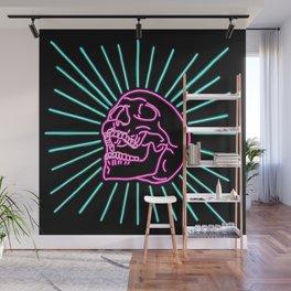 Pink Laughing Skull Wall Mural