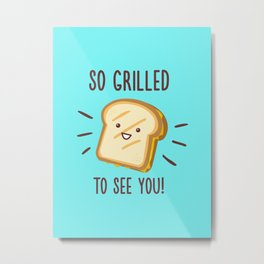 Cheesy Greetings! Metal Print