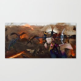 War in Heavens Canvas Print