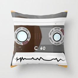 The cassette tape Robot Throw Pillow