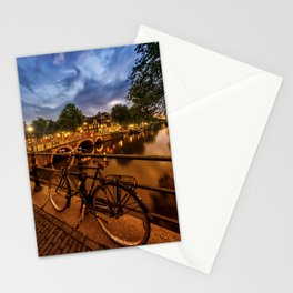 AMSTERDAM Evening impression from Brouwersgracht Stationery Cards