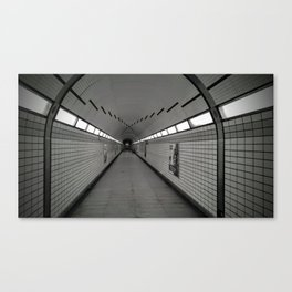 Loneliness in the subway Canvas Print