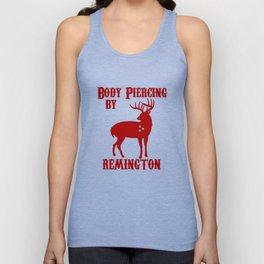 Deer Hunter BODY PIERCING BY REMINGTON BLACK Tee Shotgun Rifle Hunting T-Shirt Unisex Tank Top