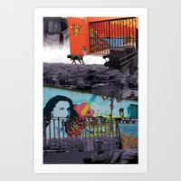 chile Art Prints featuring Chile by Noush