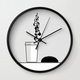Best company: coffee and bun Wall Clock