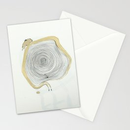 """""""outwards not inwards"""" spiral Stationery Cards"""