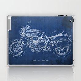 2010 Moto Guzzi Griso1200 8V, motorcycle blueprint, blue poster,milimiter,original poster,giftforhim Laptop & iPad Skin