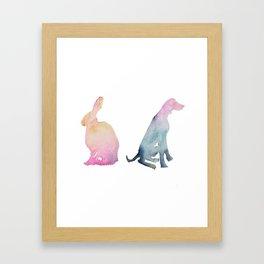 Hare of the Dog Framed Art Print