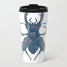 Deer Beetle Metal Travel Mug