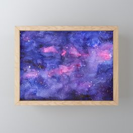 Galaxy Pattern Watercolor Framed Mini Art Print
