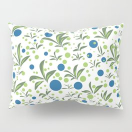 Leaves & Dots Pattern Pillow Sham
