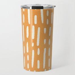 minimalist series: scandi lines, orange Travel Mug