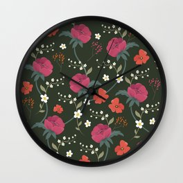 Field of flowers  Wall Clock