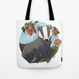 Autumnal Badger Tote Bag